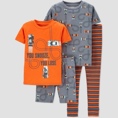 Baby Boys' 4pc 100% Cotton 'Car' Pajama Set - Just One You® made by carter's Red 18M