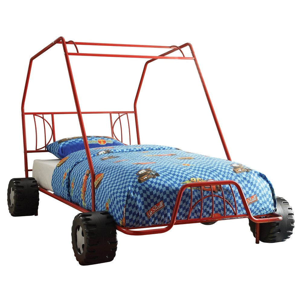 Xander Twin Bed-Red Go Kart-Acme, Red