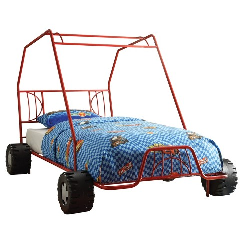 Xander Twin Bed-Red Go Kart-Acme