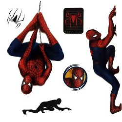 Spiderman 2 Stickers Superhero Self-Stick Decals - Marvel..