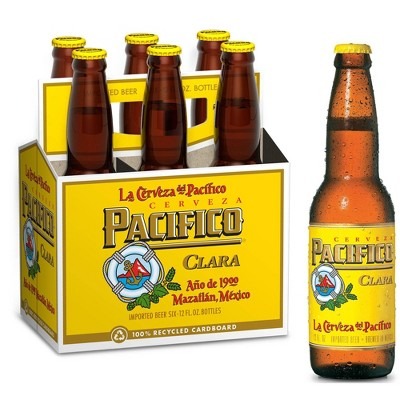 Pacifico Clara Mexican Lager Beer - 6pk/12 fl oz Bottles