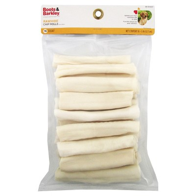 Natural Rawhide Chip Rolls Dog Treats - 16ct - Boots & Barkley™