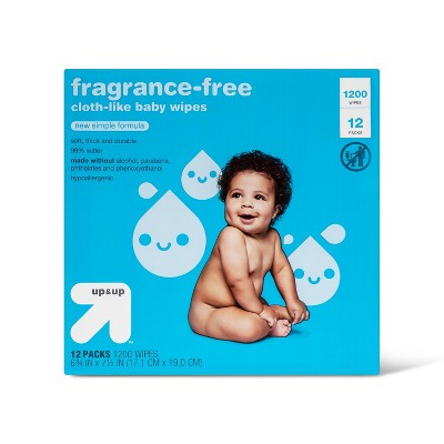 Fragrance Free personal Baby Wipes - 12pk/1200ct - up & up™