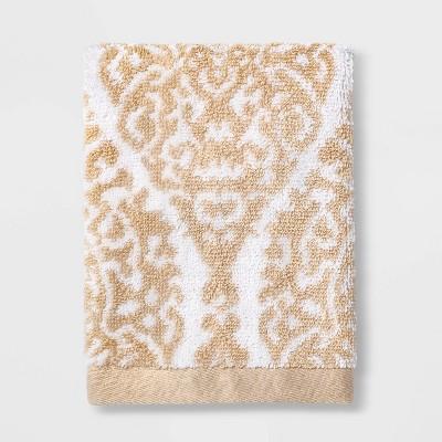Performance Washcloth Bare Canvas Ogee Tan - Threshold™