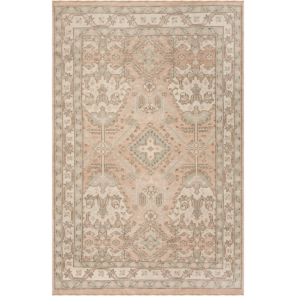 8'X10' Floral Knotted Area Rug Peach/Ivory - Safavieh, Blue