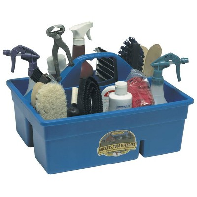 Little Giant Blue Stable Supplies Plastic Organization DuraTote Box, Blue