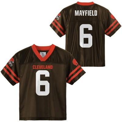 NFL Cleveland Browns Boys' Baker Mayfield Short Sleeve Jersey