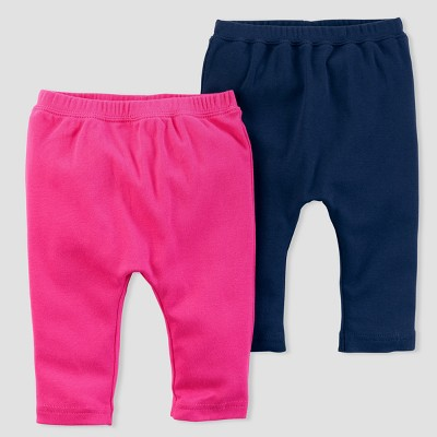 Baby Girls' 2pk Leggings - little planet™ organic by carter's® Pink/Navy 3M