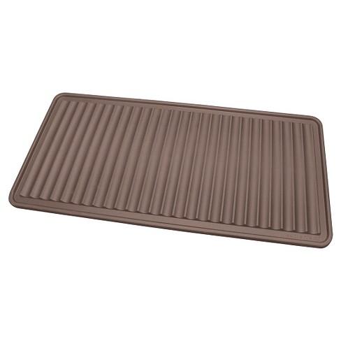"""Brown Solid Doormat - (1'6""""X3') - WeatherTech - image 1 of 2"""