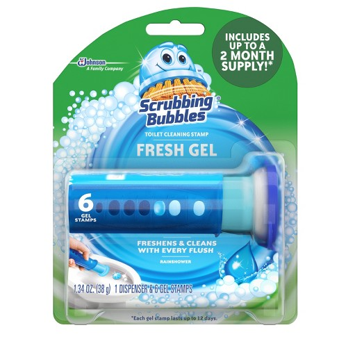 Scrubbing Bubbles Toilet Cleaning Gel Glade Rainshower 1.34oz - image 1 of 4