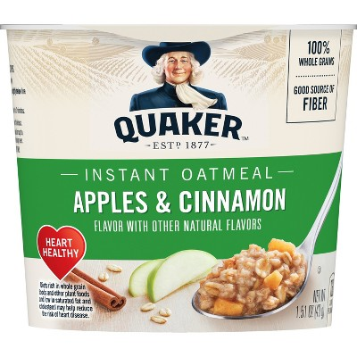 Quaker Instant Oatmeal Cup Apple Cinnamon 1.51oz