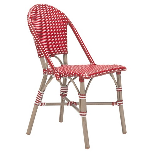 Stackable 2pk Weather Resistant Bistro Chair - Red/White - ZM Home - image 1 of 5