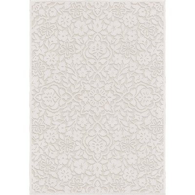 Boucle Cottage Floral Area Rug Natural - Orian
