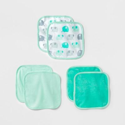 Baby Lightweight 6pk Washcloth Set - Cloud Island™ Mint