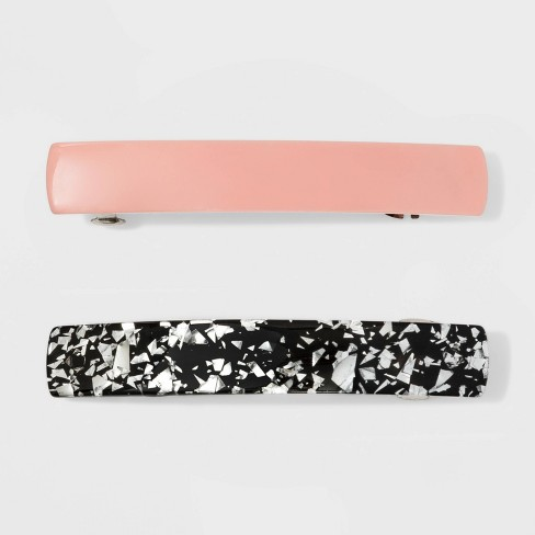 Metal Barrette, Solid, Metal Foil - Wild Fable™ Pale Pink - image 1 of 2