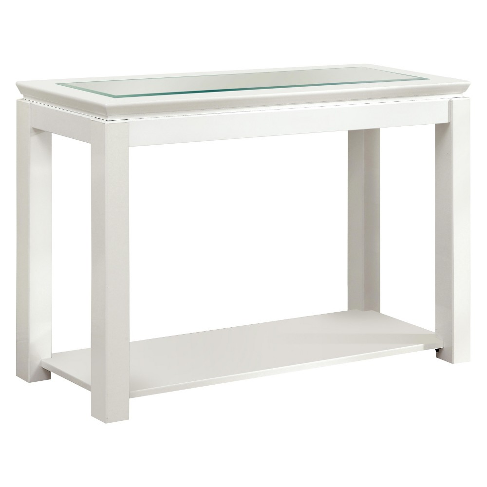 Remarkable Mibasics Tellma High Gloss Glass Top Sofa Table White Winter Gmtry Best Dining Table And Chair Ideas Images Gmtryco