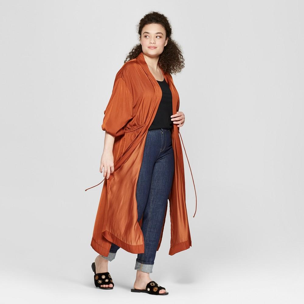 Women's Plus Size Kimono - A New Day Rust (Red) Xxl