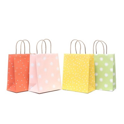 4pk Recycled Small Printed Gift Bags - Spritz™