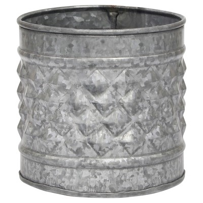 Stonebriar Antique Galvanized Metal Farmhouse Planter