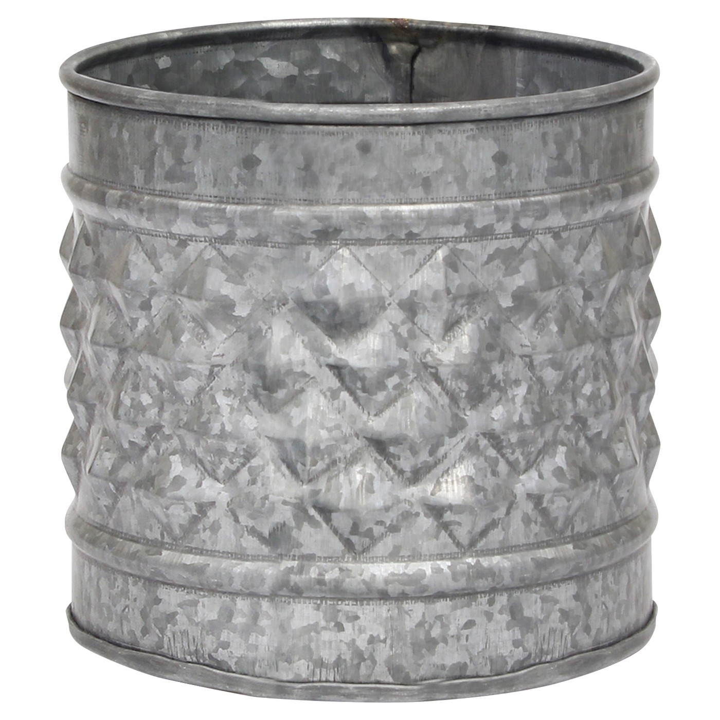 Stonebriar Antique Galvanized Metal Farmhouse Planter - image 1 of 5