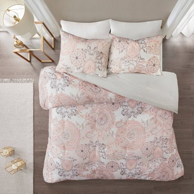 3pc Lina Cotton Printed Reversible Duvet Cover Set