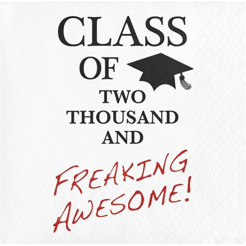 16ct Graduation Awesome Cocktail Beverage Napkins - image 1 of 1
