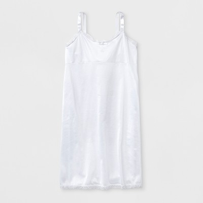 I.C. Collections Girls' Simple Empire Waist Slip - White