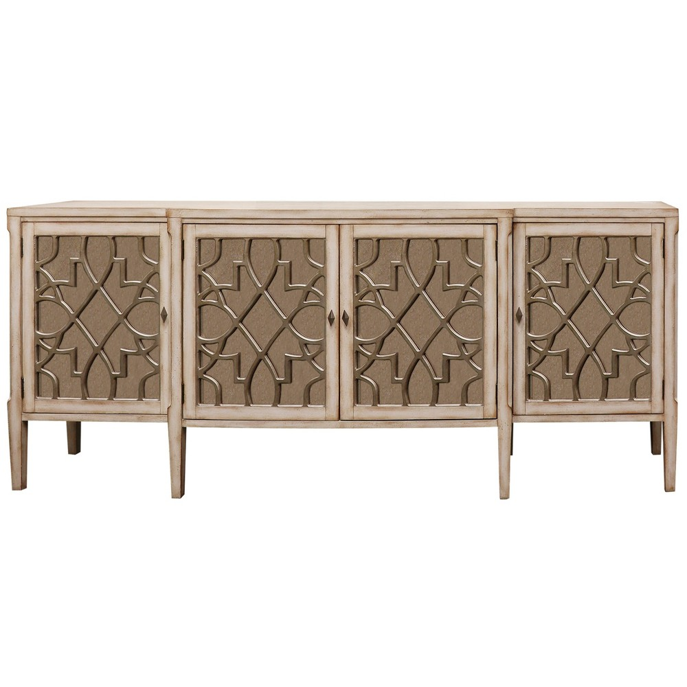 Image of 4 Door Console Table Natural - Stylecraft, Brown Gray