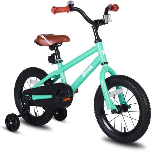 Joystar Totem 12 Inch Kids Toddler Training Bike Bicycle with Training Wheels, Rubber Tires, and Coaster Brake, Ages 2 to 4, Green - image 1 of 4