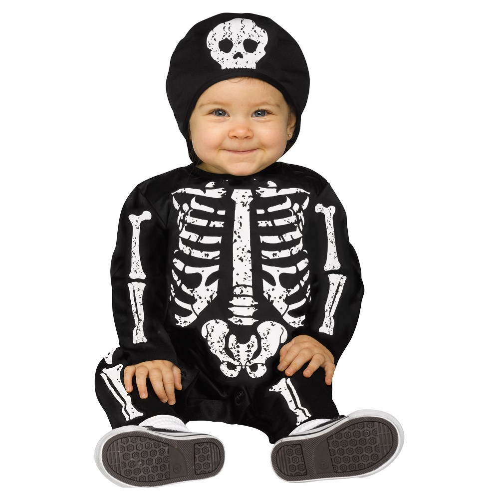 Image of Halloween Boys' Baby Bones Costume 6-12m, Boy's, MultiColored