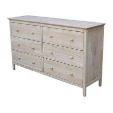 Unfinished Wood Dresser Target