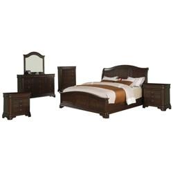 Conley Panel 6pc Bedroom Set - Cherry - Picket House Furnishings