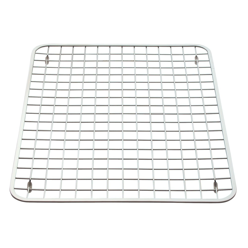 Image of InterDesign Gia Stainless Steel Sink Grid Regular Polished Chrome, Silver