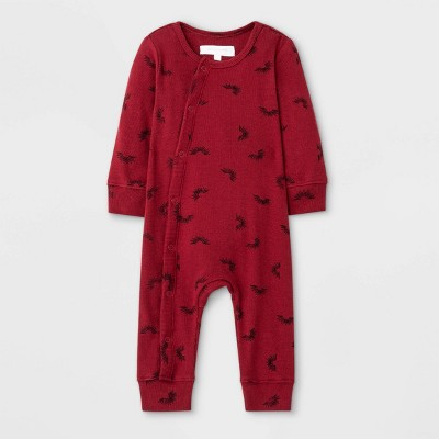 Grayson Mini Baby Sun Print Rib Romper - Red