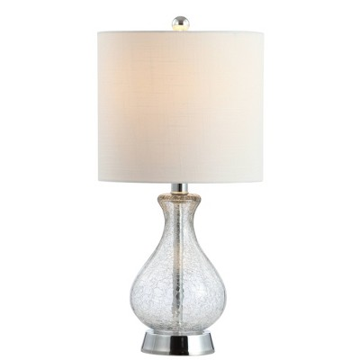 """21"""" Metal/Bubble Glass Playa Table Lamp (Includes LED Light Bulb)Clear - JONATHAN Y"""