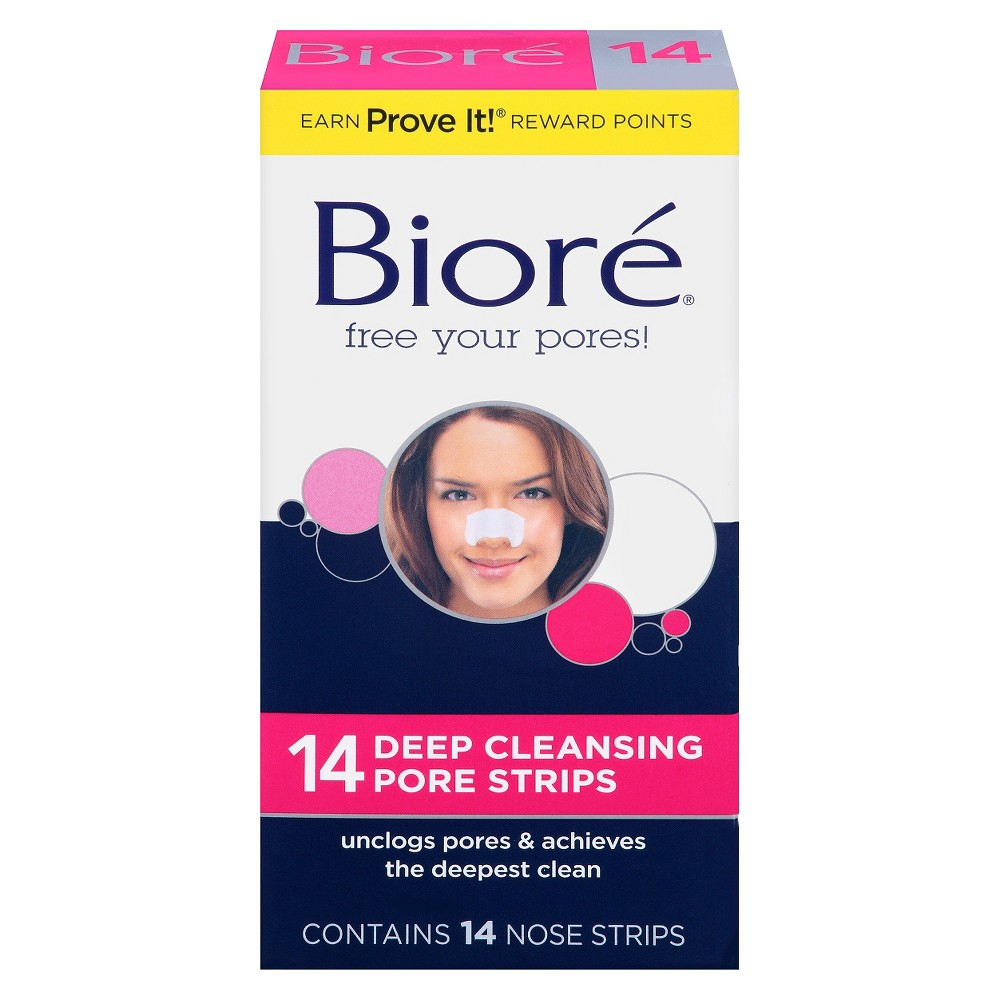 Biore Deep Cleansing Pore Strips - Nose - 14ct