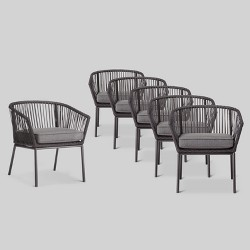 Sensational Windsor Metal Stack Patio Club Chair Black Project 62 Bralicious Painted Fabric Chair Ideas Braliciousco