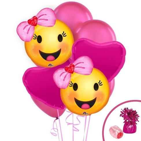 Emoji Pink Balloon Kit Target