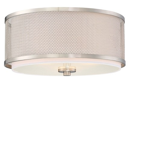 Brushed Nickel Flush Mount Ceiling Lights (3 Bulb Sockets ...