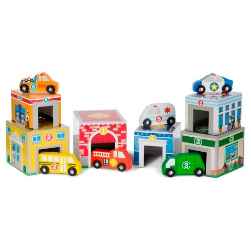 Melissa & Doug® Nesting & Sorting Toys - Buildings & Vehicles - image 1 of 6