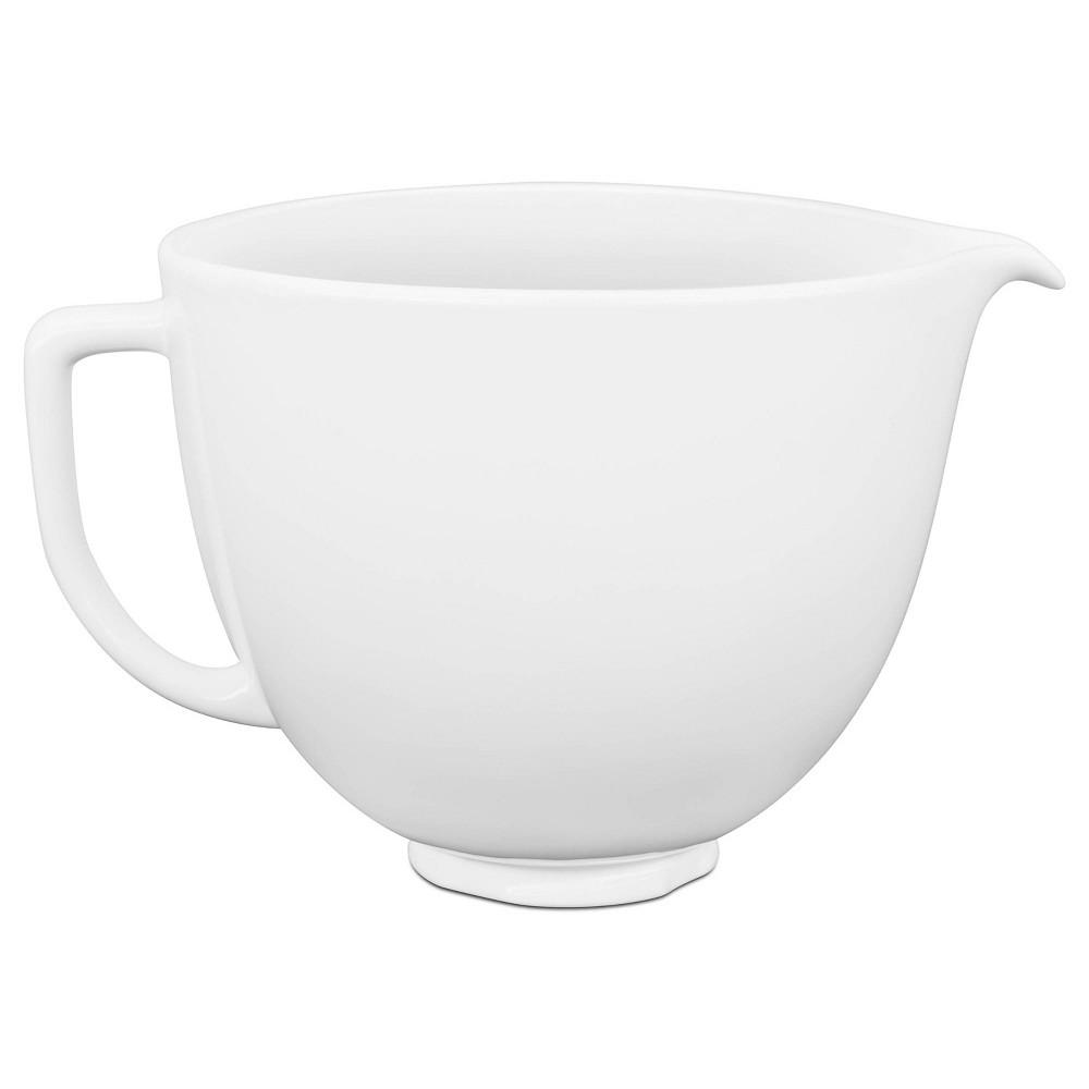 Kitchenaid 5qt White Chocolate Ceramic Bowl White