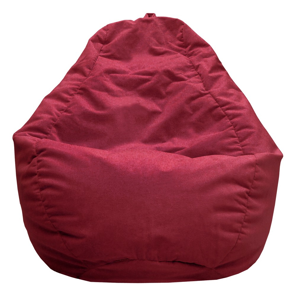 Strange Gold Medal Micro Fiber Suede Bean Bag Chair Red Wine Gmtry Best Dining Table And Chair Ideas Images Gmtryco
