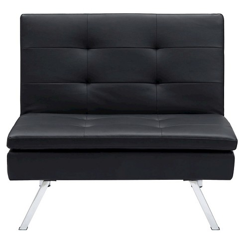 Chelsea Convertible Chair Black Dorel Home Products