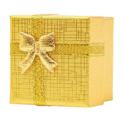 Juvale 24 Pack Paper Gift Boxes Set with Lids and Bows, Perfect Gift Boxes for Anniversary, Wedding and Birthday, Gold