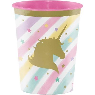 8ct Sparkle Unicorn Plastic Cups