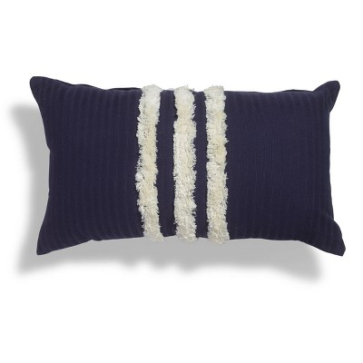 """14""""x24"""" Avalina Tufted Striped Throw Pillow - Sure Fit"""