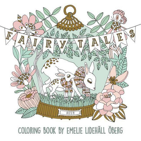 Fairy Tales Coloring Book - by  Emelie Oberg (Paperback) - image 1 of 1