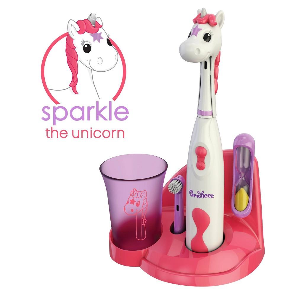 Image of Brusheez Sparkle the Unicorn Kid's Electric Toothbrush Set