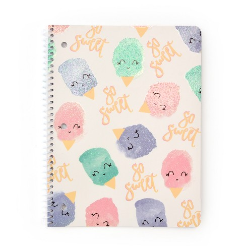Spiral Notebook 1 Subject College Ruled Ice Cream Pattern - Gartner Studios - image 1 of 2