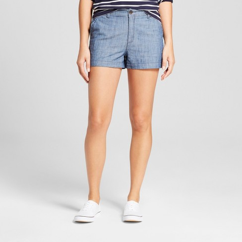 """Women's 3"""" Chino Shorts - A New Day™ Chambray - image 1 of 3"""